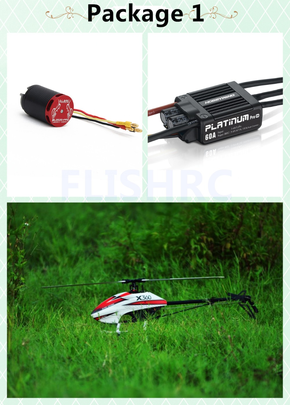 In Stock 2018 The Newest ALZRC X360 FAST FBL KIT Helicopter (with Electronic Equipment) for GAUI X3