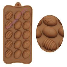 Topnew Easter Egg Silicone Bakeware DIY Cake Decorating Jelly Chocolate Candy Mold