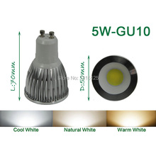 4PCS/lot high power LED Spotlight COB, 5W LED COB GU10 Light,3200K Warm White LED COB Spotlight+Free Shipping