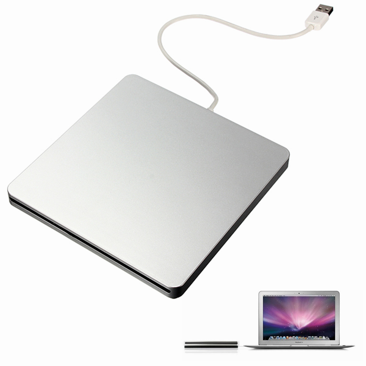 Bestrunner Portable USB2.0 External Slim DVD-RW/CD-RW Burner Recorder Optical Drive CD DVD ROM Combo Writer support windows10 victsing slim usb 2 0 drive cd dvd rw burner writer external optical drive with usb cable for apple macbook desktops laptops