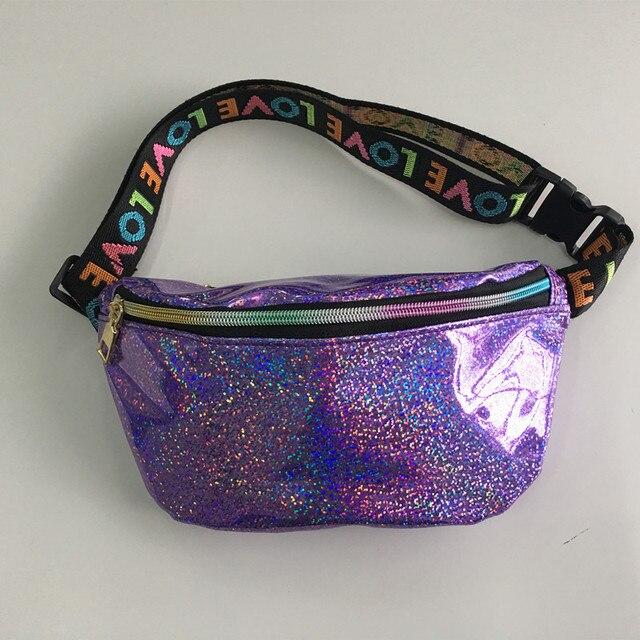 Поясная Сумка LXFZQ bolsa feminina поясная женские сумки лазерная кошелек Светоотражающие грудь талия мешок Женщины Поясная Сумка Талия ног сумка