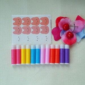 Image 4 - O Envio gratuito de 100 pçs/lote 5g Vazio Doce Cor Tubos LIP BALM Recipiente do Batom Garrafa Para DIY Lábio de Plástico de Embalagens de Cosméticos