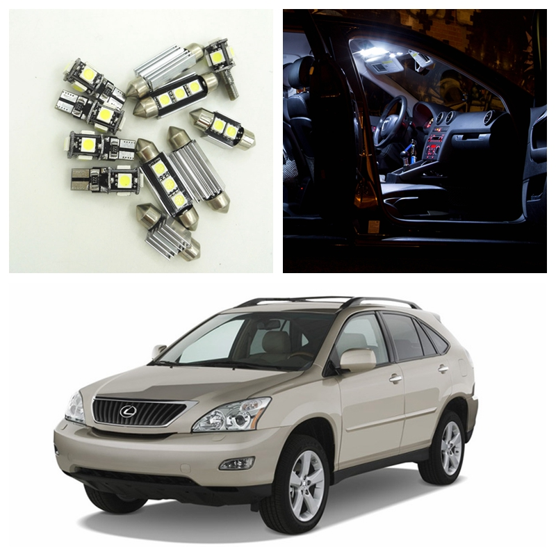 19pcs White Canbus Car LED Light Bulbs Interior Package Kit For 2004-2008 Lexus RX330 RX350 RX400h Map Dome Trunk Lights 15pcs white canbus error free car led light bulbs interior package kit for 2002 2003 2004 audi a4 b6 map glove box door lamp