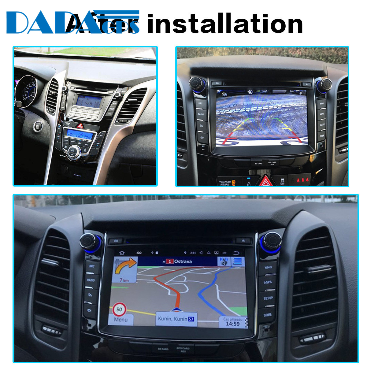 Android 9 4+32GB Car DVD Player GPS Navigation  For Hyundai I30 Elantra GT 2012+ Multimedia Radio Tape Recorder Auto Stereo