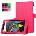 Новый Личи Пу кожа Магнит чехол Для Lenovo Tab 3 7.0 710 основных 710F tab3 7 ''tablet случаях + Экран фильма + стилус