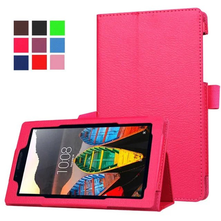 New Lichi Pu leather Magnet case cover For Lenovo Tab 3 7.0 710 essential tab3 710F 7'' tablet  cases + Screen film +stylus 3 in 1 new ultra thin smart pu leather case cover for 2015 lenovo yoga tab 3 850f 8 0 tablet pc stylus screen film