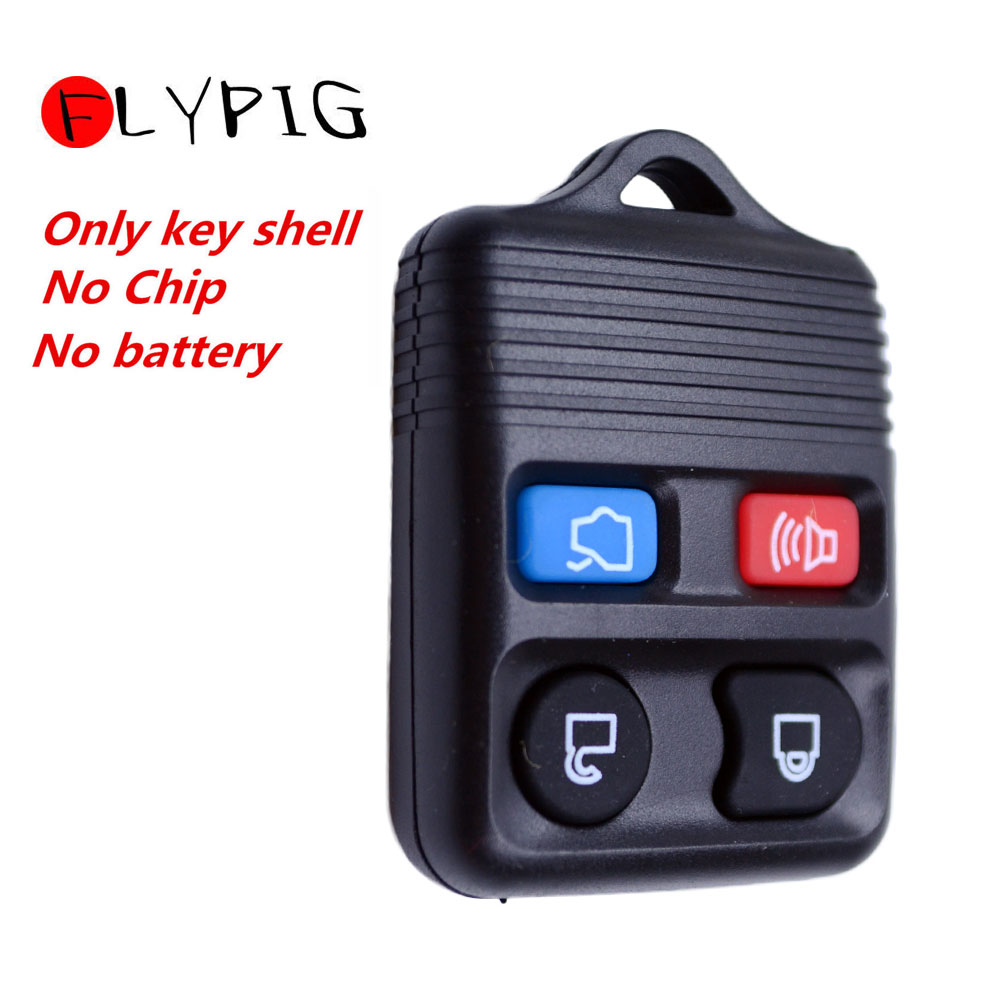 2 Car Key Fob Shell Case Pad 4B For 1999 2000 2001 2002 2003 2004 Ford Mustang