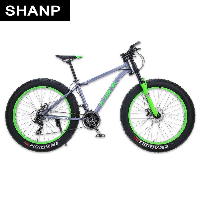 LA MANCANZA di Mountain Bike FatBike Telaio In Acciaio 24 Velocità Shimano Freni A Disco 26