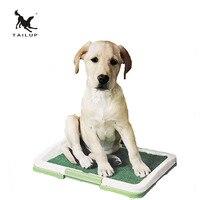 Tailupペットトレーニングトイレ用犬threetierグリッドで芝生トレイ用犬子犬砂箱