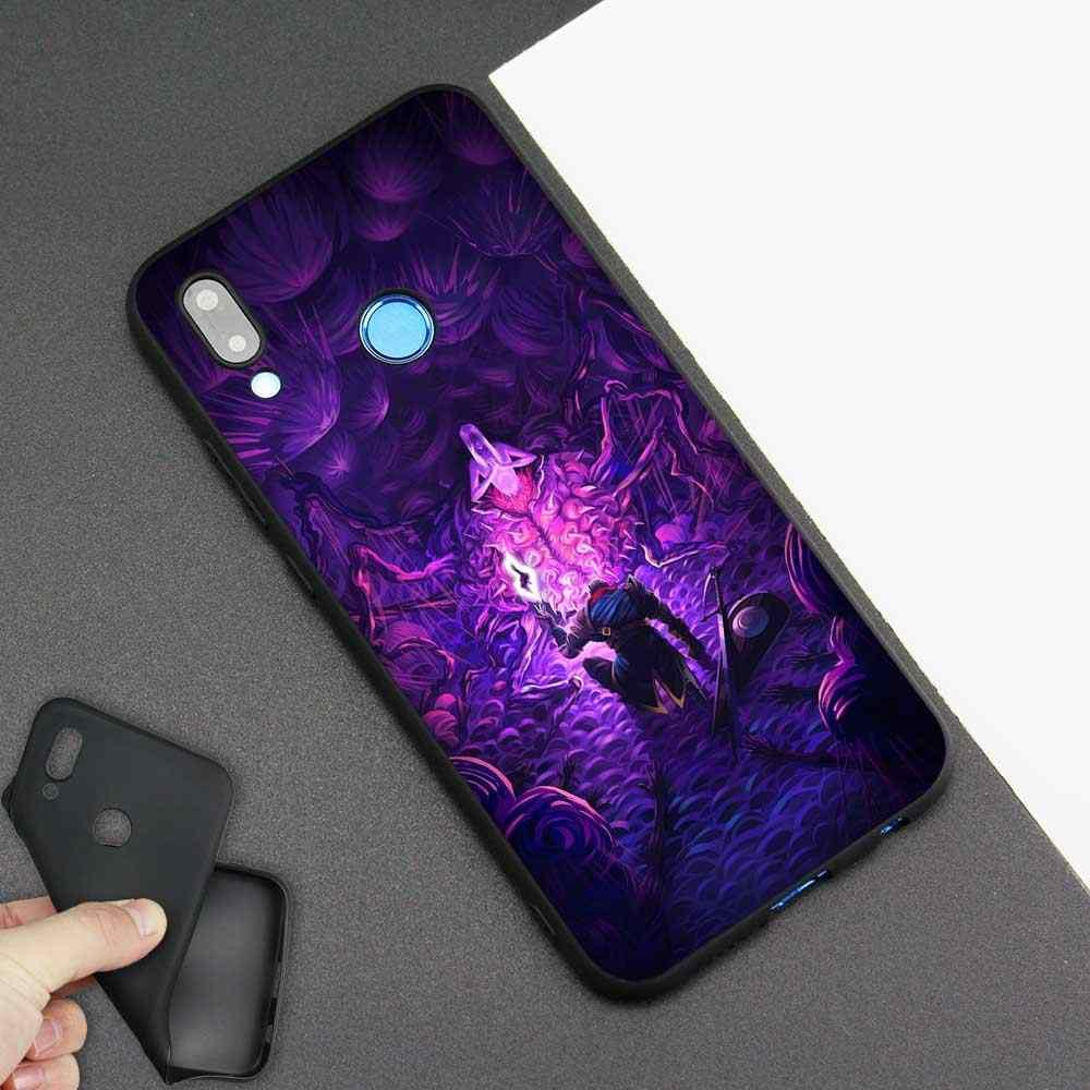 สีดำซิลิโคนกระเป๋าซิลิโคนสำหรับ Huawei honor 8X 8C 8A 10 20 Y6 Y9 2019 Lite เล่นสนุก 9S 9E 20i โทรศัพท์ Fall Bloodborne