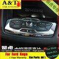 A & T estilo do carro Para Ford Kuga Fuga cromo Decorativo inter de console guarnição 2013-2015 Para Kuga adesivos console Interior Molduras