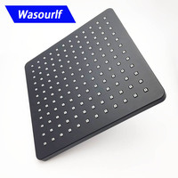 WASOURLF wall mounted shower head top black colour square shower for bathroom free shipping