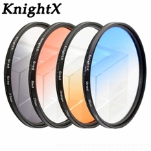 KnightX 52MM 58MM 67MM 77 Graduated Color Lens Filter Accessories for Canon EOS NIKON D3200 d7100 D5200 D5100 D3300 DSLR Camera