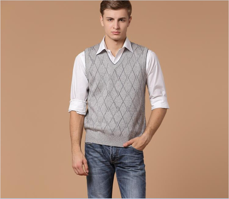 Autumn hot sale v neck mens casual plaid pattern for Mens business shirts sale
