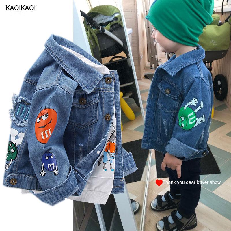 criancas jaqueta denim meninos buraco quebrado jean jaquetas meninas criancas roupas casaco de bebe outerwear casual