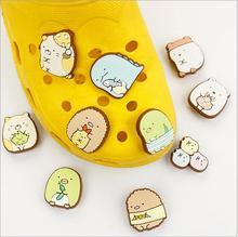 Kinder geschenk Japan authentische Die ecke von biologischen jibbitz crocs Cartoon PVC jibbitz Loch loch schuhe dekoriert