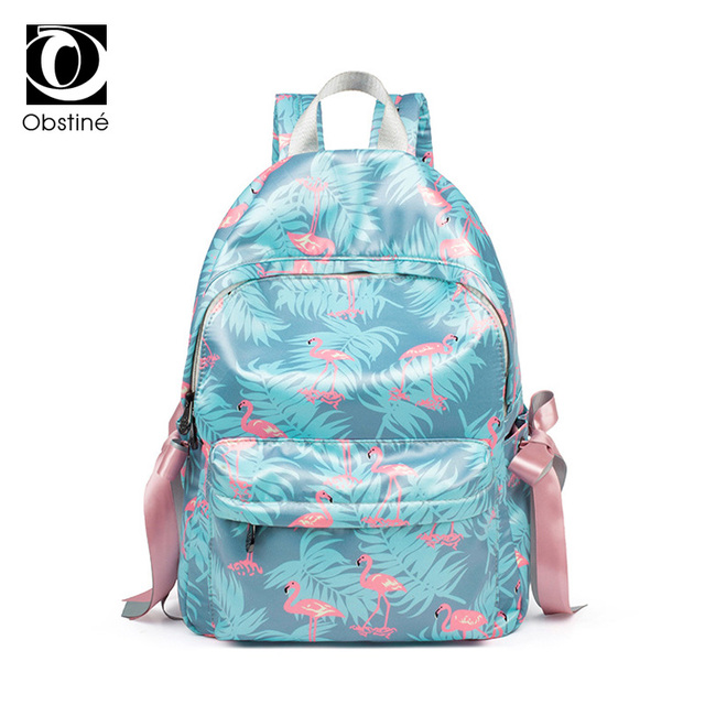 ddb48cf2957a Flamingo Backpack Female Cute Bow Backpacks for Girls Bagpack Women Fashion  Ladies Daypack Youth Back Pack for Travel Book Bag