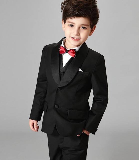 2017 autumn boys suits for weddings kids prom suits solid color ...