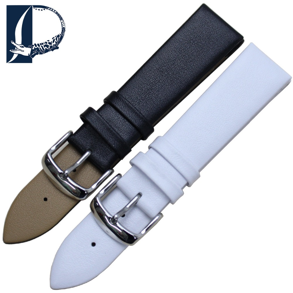 Pesno 12mm 14mm 16mm 18mm 20mm 21mm 22mm Genuine Leather Watchband Smooth Pattern Watch Band Bracelet Strap Universal Men Women hot sale ceramic 14mm 16mm 18mm 19mm 20mm 22mm black white watchband men women bracelet for women dress new general watch strap