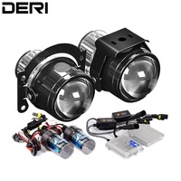 2.5 inch HID Bi xenon Fog Lights Projector Lens Driving Lamps Retrofit For Suzuki Swift Ford Subaru Renault Honda Car Styling