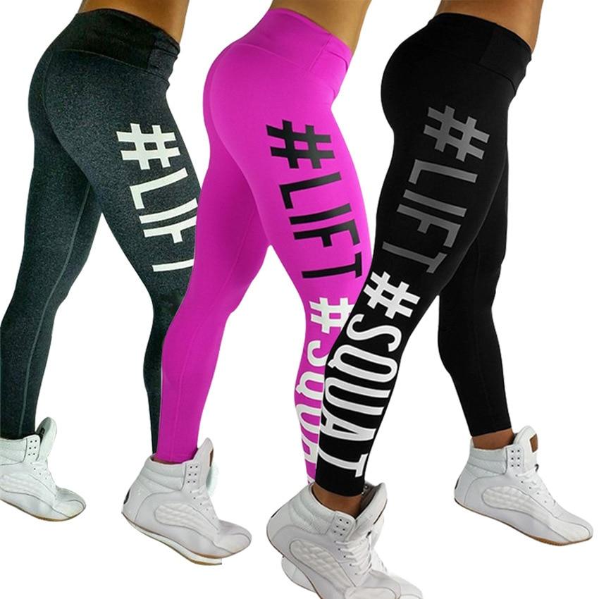 Letters LIFT Squat Printing Yoga Pants Women's Activewear