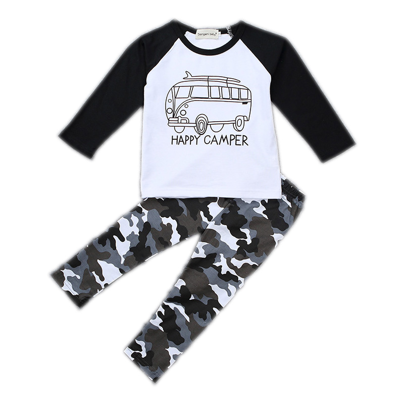 SAMGAMI BABY New Boys Clothes T-shirt + Pants 2 Pcs Set Outfit Costume Chidren Clothing Set Boys Spring and Autumn Casual Suit