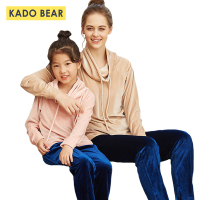 Children Winter Kids Velvet Pajamas Family Look Mommy Mother Daughter Outfits Baby Girls Sleepwear Pyjamas Clothing Sets Clothes