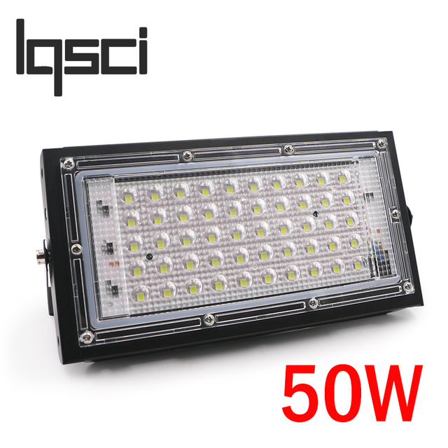 LQSCI 50W  220V 240V  Perfect powe LED Floodlight LED street Lamp waterproof Landscape Lighting IP65 led spotlight