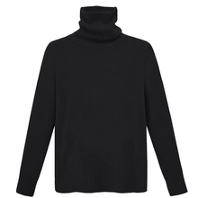 New Women Autumn and winter polyester High collar long sleeve Thicker Pullover Solid color Slim sweater Free Size