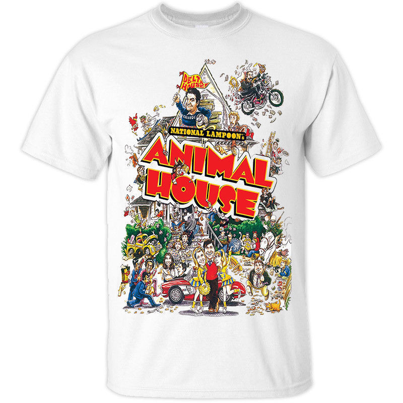 Animal Hause T shirt White Tom Hulce John Belushi Men Summer Short Sleeves Casual