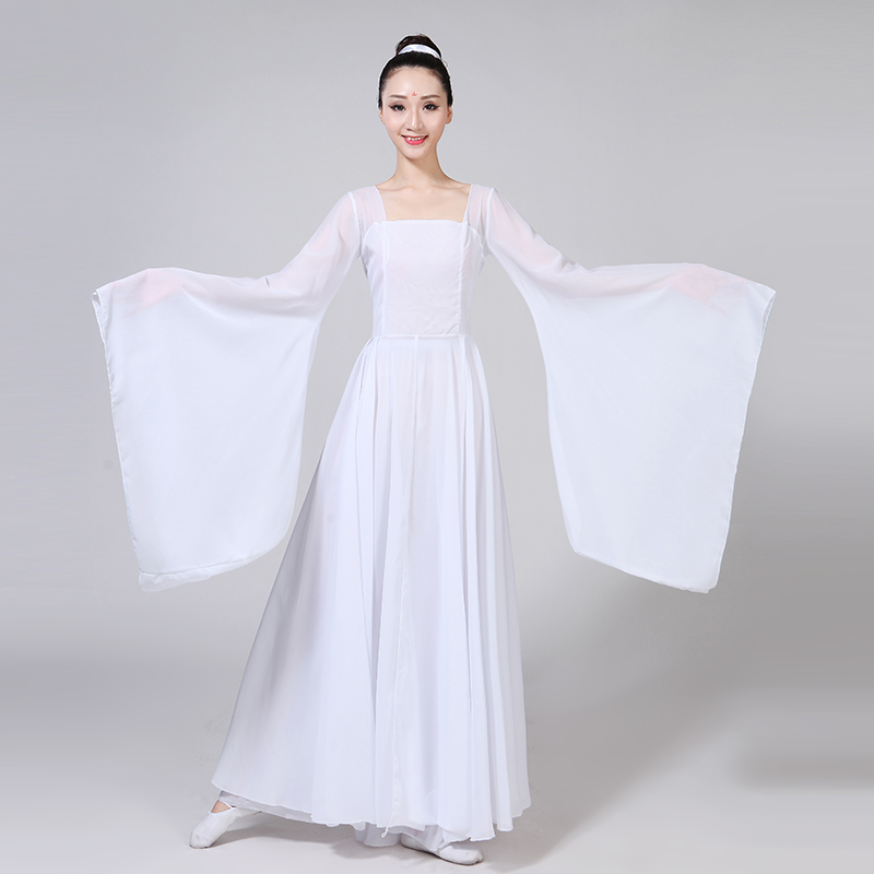 1e420e71a5 Classical Dance Costumes Female New Fairy Dance Dress Elegant Chinese Style  Wide Sleeves Flow Fairy Skirt Clothing Gauze Adult