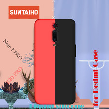 Funda de silicona Suntaiho para redmi K20 pro 6 6A remid note 7 funda pro mate para Xiaomi Mi9 redmi 7 funda trasera suave color caramelo(China)