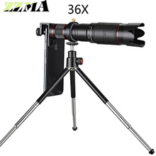 Universal 4K 36x Zoom Mobile Phone Telescope Lens Telephoto External Smartphone Camera Lens For IPhone Sumsung huawei all phone