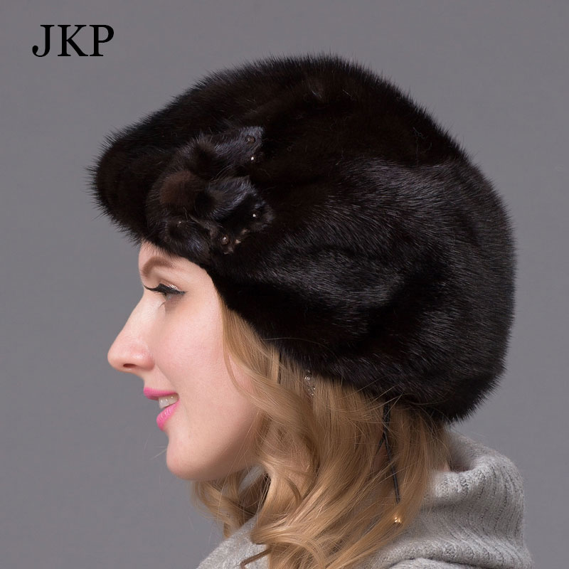 d2c81cde058 Aliexpress.com   Buy Real mink fur hats for winter women fur cap with diamond  2016 new fashion octagon mink fur beret Russia good quality elegant hat  from ...