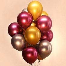 10pcs 12inch Metal Pearl Latex Balloons Thick Chrome Metallic Colors Inflatable Ballon Wedding Birthday Party Decorations Adult