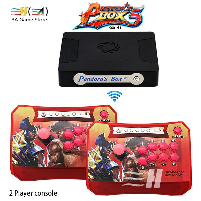 Pandora Boîte 5 960 en 1 Sans Fil Arcade Stick Contrôleur soutien XBOX360 PS3 PC Jeu Arcade Joystick Jeu de Combat Contrôleur kit