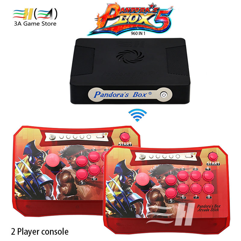 Pandora Box 5 960 in 1 Wireless Arcade Stick Controller Support XBOX360 PS3 PC Game Arcade Joystick Fight Game Controller kit sanwa button and joystick use in video game console with multi games 520 in 1