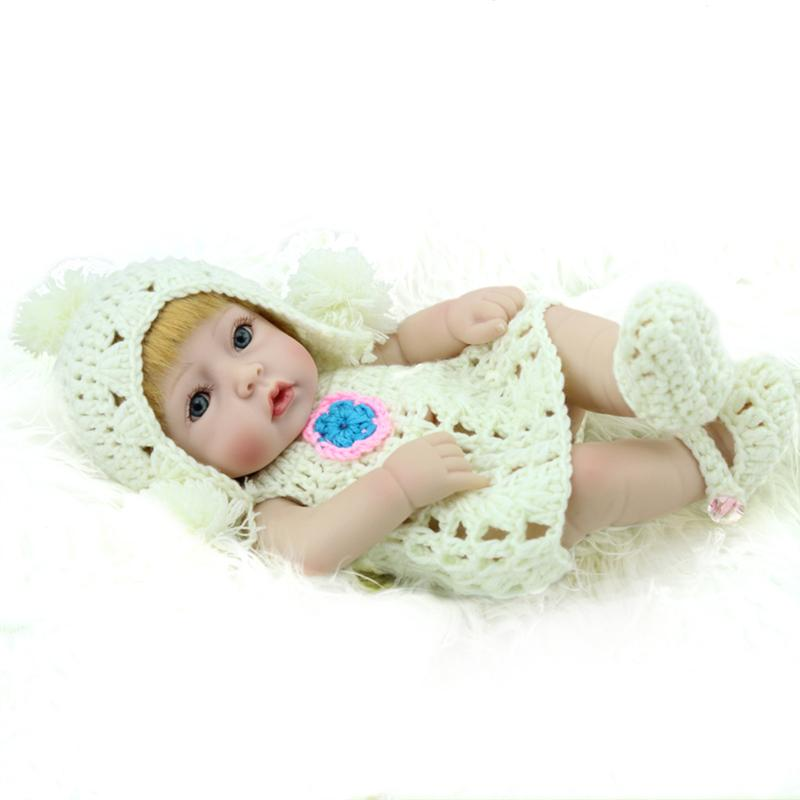 Cute Reborn Baby Doll Lovely Lifelike Kids Toy Children Pretty Dolls Newborn Soft Touch Toys Girl Birthday Gift new arrival 55cm blue eyes pink clothes lifelike baby soft girl doll with free plush toy as kids xmas gifts birthday doll toys