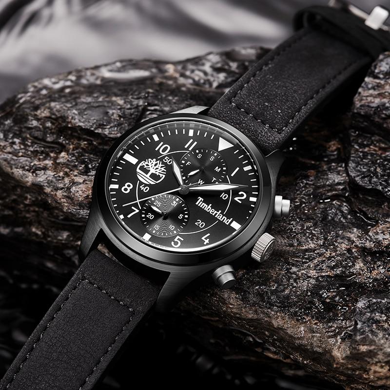 Weekly Calendar Quartz : Timberland original mens watches leather quartz