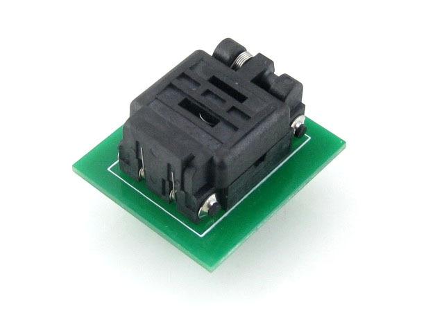 Wavesahre QFN8 à DIP8 (C) Plastronics IC programmeur adaptateur Test rodage prise 8*6mm 1.3 pas pour QFN8 MLF8 MLP8 paquet