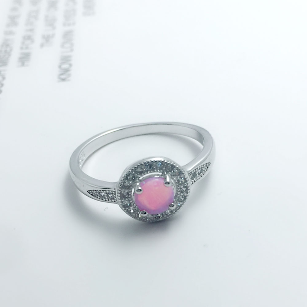 خاتم فضة بحجر جميل 8