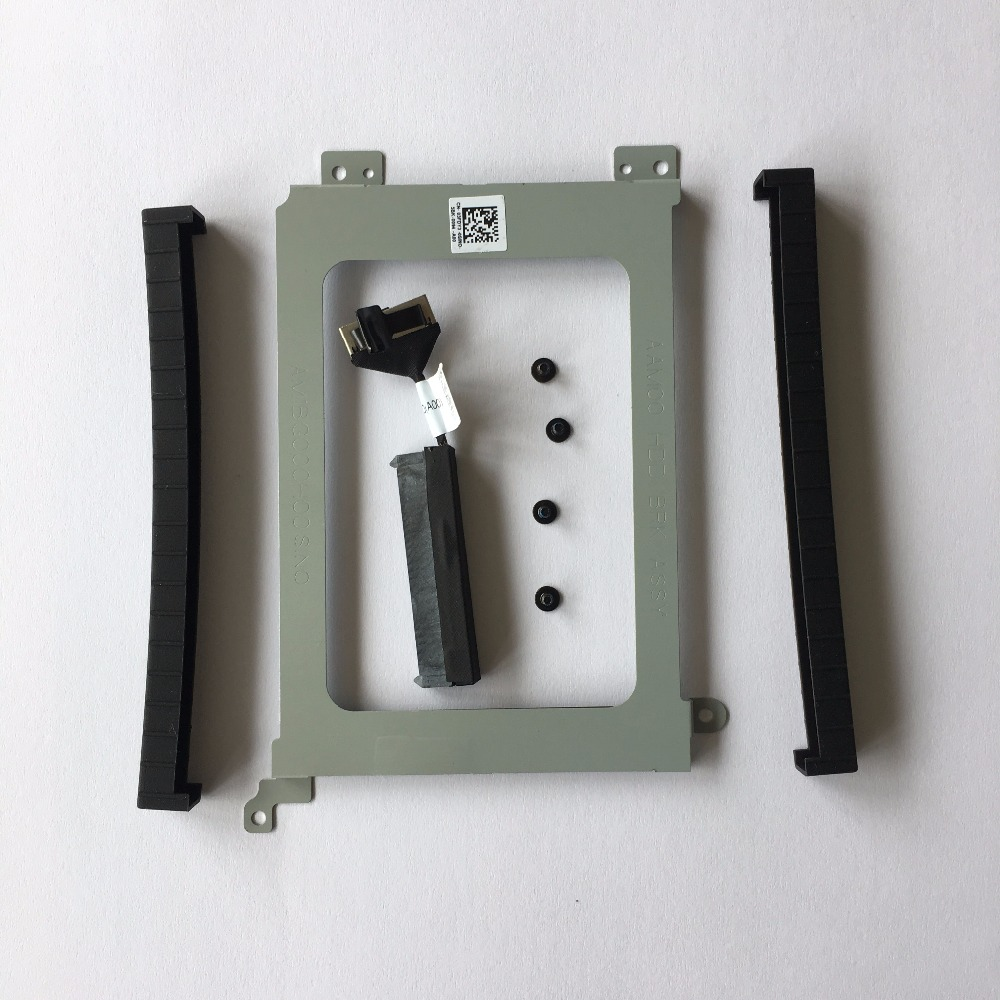 Original For Dell XPS 15 9550 M5510 9560 M5520 Hard Drive Connector Cable XDYGX + HDD Bracket Caddy 3FDY3 +Screws+Rubber Rail genuine new for dell precision 5510 xps15 9550 hdd hard drive connector cable xdygx 0xdygx dc02c00bl00