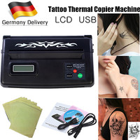 EU WSJ TATTOO U2 LCD Display Black USB Tattoo Stencil Maker Transfer Machine Flash Thermal Copier