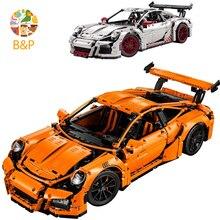 Лепин DHL Бесплатная доставка 2704 шт. 20001 оранжевый супер модель автомобиля строительный Наборы блоки кирпичи игрушки Совместимость с 42056 подарок