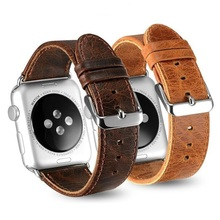 Фотография Genuine Leather Strap for Apple Watch Band 38mm 42mm Series 1 2 3 Watchband Straps Bracelet Belt Mens for iwatch Watchbands New