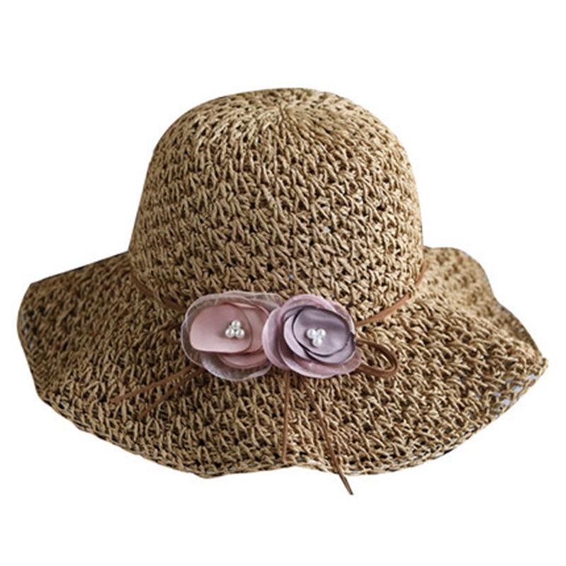 Nett Bowknot Panama Stroh Sun Hut Für Frauen Chic Handmade Faltbare Roll Up Hut Fedora Strand Breiter Krempe Visiere Hut Frauen Sommer Caps Verschiedene Stile Sonnenhüte Bekleidung Zubehör