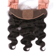 Beeos Silk Base Lace Frontal Closure 13*4 Peruvian Body Wave Human Hair Ear To Ear Frontals With Baby Hair Remy Hair 10-20″