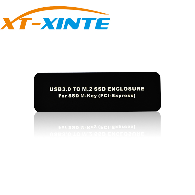 XT-XINTE Micro USB3.0 to M.2 PCI-E SSD Enclosure NGFF PCI-E M-KEY PCIE Support AHCI LM900 for 2230 2242 2260 2280 SSD