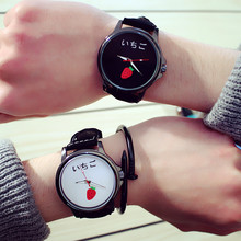 Free shipping Fruit pattern cute female table simple fashion tide male student couple watch