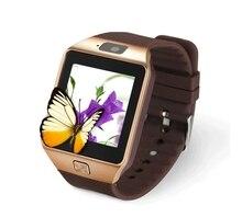 2016 nueva dz09 teléfono smartwatch bluetooth smart watch para android ios apoyo TF Tarjeta SIM SMS GPRS NFC FM PK GT08 U8